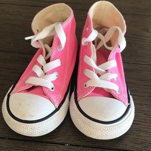 Toddler pink converse. EUC